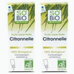 Huile essentielle Citronnelle bio - 30 ml - Lot de 2 x 15 ml