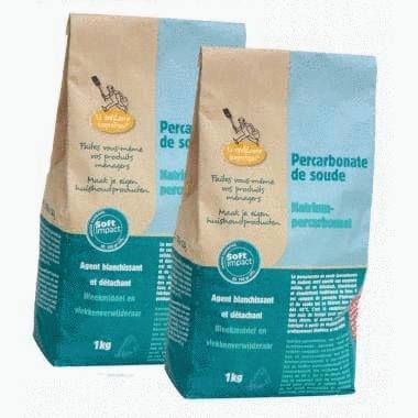 Percarbonate de soude 1kg - Lot de 2