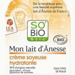 Crème hydratante visage au lait d'ânesse bio 50ml -So'Bio Etic