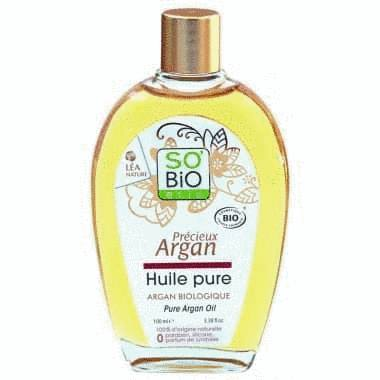 huile d'argan pure bio 100 ml - cheveux secs