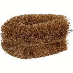 Brosse à légume en fibre de coco 10 cm - x 2