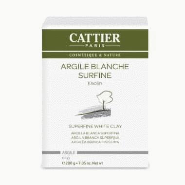 Argile Blanche surfine CATTIER 200g Toutpratique Contre la peau grasse, les cheveux gras, soin anti ride et désodorise le frigo