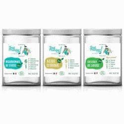 Nettoyer et entretenir au naturel – Pack Toutpratique - 3 pots de 0.7KG - Pack de 3KG