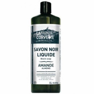 Savon noir Liquide - 1L - Amande - La Corvette