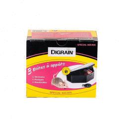 3 boîtes à appât souris sécurisées - réutilisable - Digrain