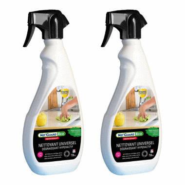 Nettoyant professionnel pour tout nettoyer - Net'Guard® - spray 750ml - LOT DE 2