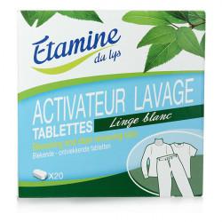 Activateur lavage linge blanc 20 tablettes Etamine du lys