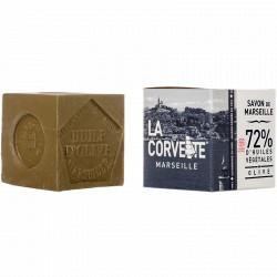 Savon Marseille pur en cube La Corvette 300g Olive