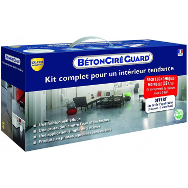 Kit Beton Ciré - Chocolat - complet + outils d'application gratuit - 16m²