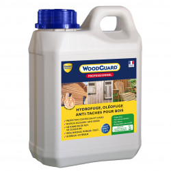 Imperméabilisant bois anti tache - WoodGuard Pro 1L - traite 7m²