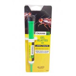 Gel exterminateur cafard cancrelat- seringue 10 gr- larve et adulte - Digrain