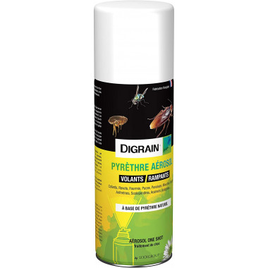 Pyrethre aérosol Digrain 200ml- anti cafard