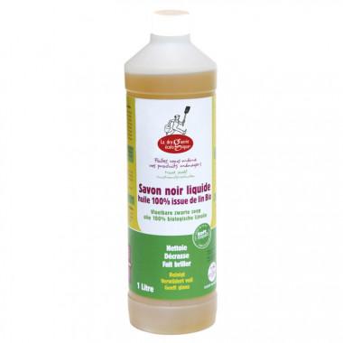 Savon noir liquide à l'huile de lin bio - 3 bouteilles de 1 L