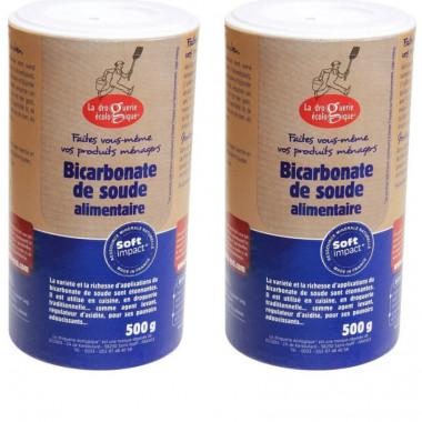 Bicarbonate alimentaire - format salière - Lot de 2 de 500g