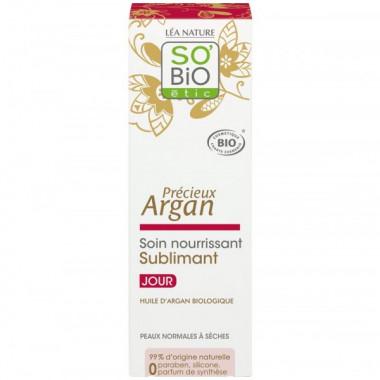 Crème jour Argan 50ml - So'Bio étic sur toutpratique.com