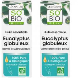 Huile essentielle eucalyptus bio - 30 ml - Lot de 2 x 15 ml