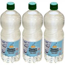 Vinaigre blanc forte concentration 12% 3L - 3 bouteilles de 1L