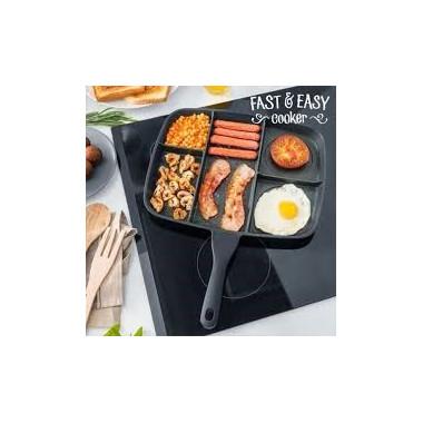 Poêle antiadhésive 5 -en-1 - Fast & Easy Cooker