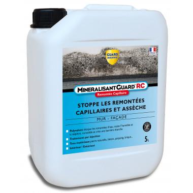 Guard-Industrie-Asseche-Mur-Humide-Bloque-Remontees-d-Eau -Minéralisant-Guard-RC-5-litres-traite-35m