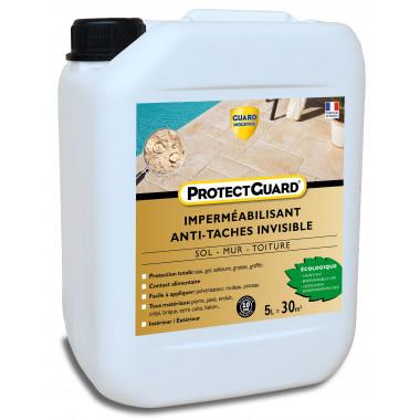 Guard Industrie -ProtectGuard-Imperméabilisant-Invisible-Oléofuge-Anti-Graffiti-Pierres-Poreuses-100-pourcent-Biodégradable-5-L