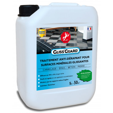 Guard Industrie-Antidérapant-Invisible-Sol-Glissant-Gliss-Guard-Ultra-Puissant-5-litres-traite-50-m-carre