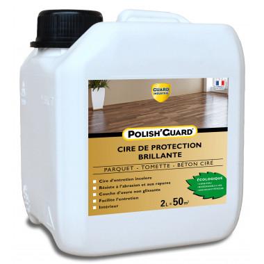 Guard-Industrie-Cire-Protection-Multi-Supports-Polish'Guard -Effet-Brillant-Parquet-Beton-Ciment-Plastique -2L-traite-50m2