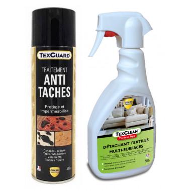 enlever une tache sur un tapis instantanement avec Texclean et impermeabilisant invisible Texguard-Toutpratique