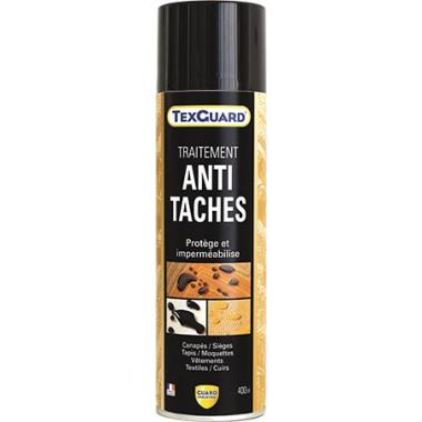 Anti tache TEXGUARD - aérosol - 400ml -Imperméabilisant antitache professionnel n°1 -hydro-oléofuge, incolore et invisible