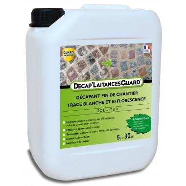 Anti-laitance Tartre, Ciment sur Carrelage, Marbre, Tomette, etc- Décap'Laitances Guard Ecologique 5L- traite 30m²