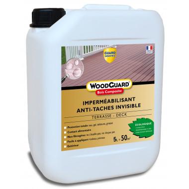 Guard Industrie - Imperméabilisant Bois Composite Invisible AntiTache - WoodGuard Bois Composite - 5L - traite 50m²