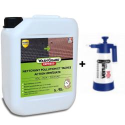 WashGuard Express - Nettoyant extérieur désincrustant version ultra rapide sans rinçage + Pulvérisateur basse pression
