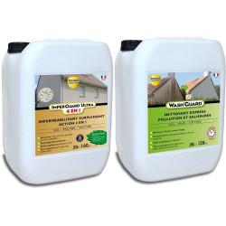 Nettoyer et imperméabiliser - Wash'Guard 20L + Imperguard Ultra 4 en 1-20L - traite 160m²