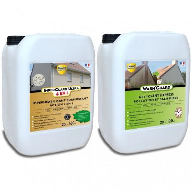 Nettoyer et Protéger - Pack Wash'Guard 20L + Imperguard Ultra (4 en 1) 20L - Nettoyage et protection de plus de 160m²