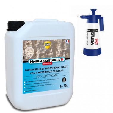 Minéralisant H - Durcisseur de surface et hydrofuge haute performance - Stop effritement -5L - traite 30m² + Pulvérisateur