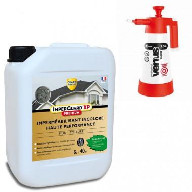 Imperguard XP Premium - Imperméabilisant mur et toit- traite 40m² - 5 L + Pulvérisateur basse pression
