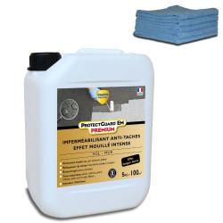 Imperméabilisant - Effet mouillé intense - ProtectGuard EM PREMIUM 5L - traite 100m² + 10 Chiffons en Microfibres
