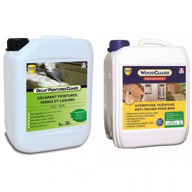 Pack décapant et imperméabilisant antitache bois - Toutpratique traite 35m2