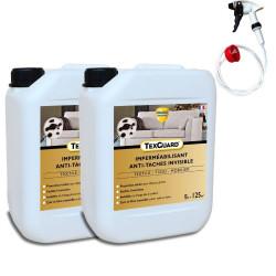 Protection anti taches tissus ou cuir - TEXGUARD 2x5L (+ pulvérisateur) - jusqu'à 100m²