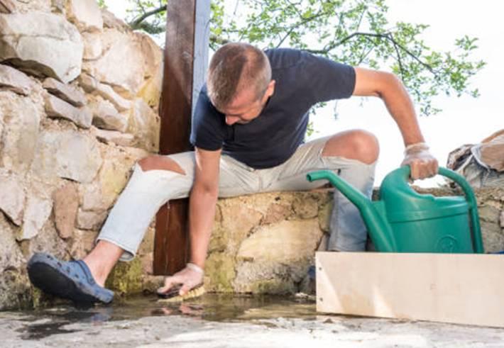 comment nettoyer et entretenir une terrasse en pierre