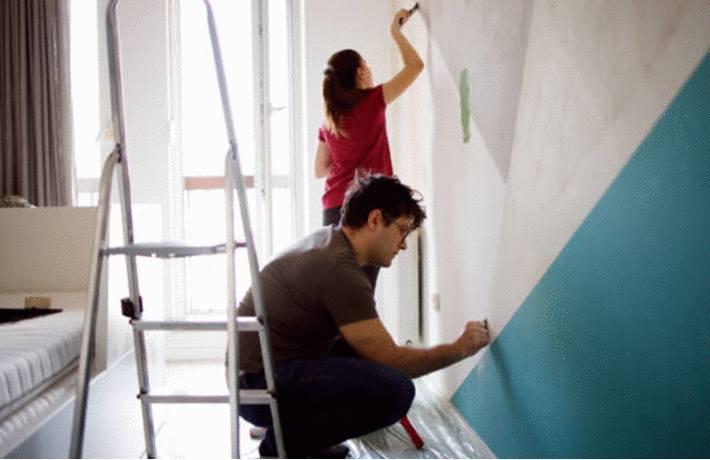 agrandir piece avec la peinture sur les murs