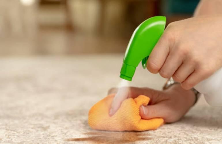 comment enlever une tache de vomi sur le tapis