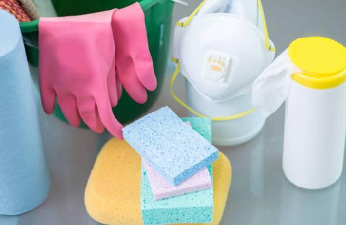 comment nettoyer éponge, gant de ménage, chiffon