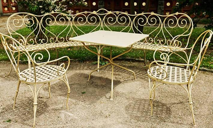 comment enlever la rouille sur mobilier jardin métal peint