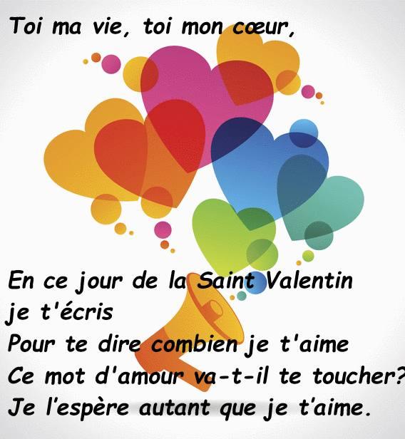 saint valentin cartemessage texte gratuit