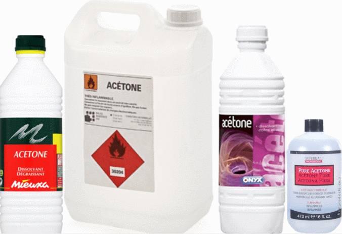 acétone comment bien utiliser l'acetone