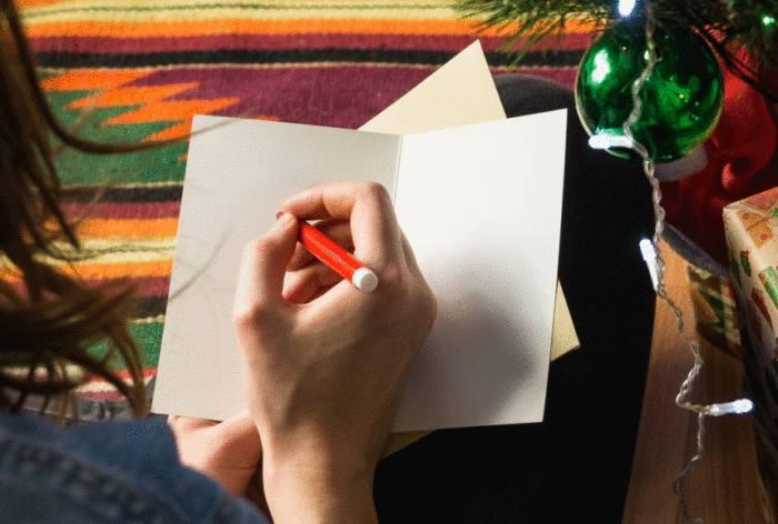 bonne année : usages pour écrire carte de voeux
