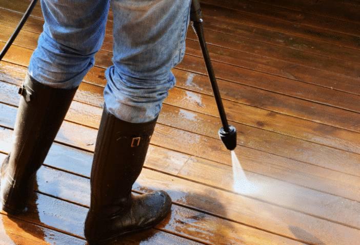 astuce pour nettoyer terrasse en bois