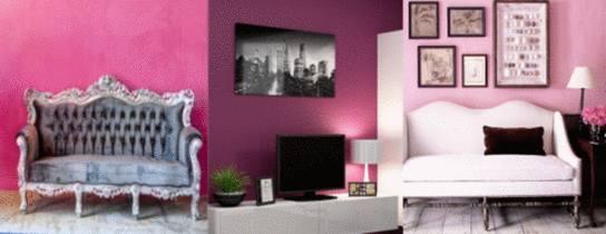 couleur tendance rose pour un salon