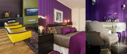 couleur tendance salon violet