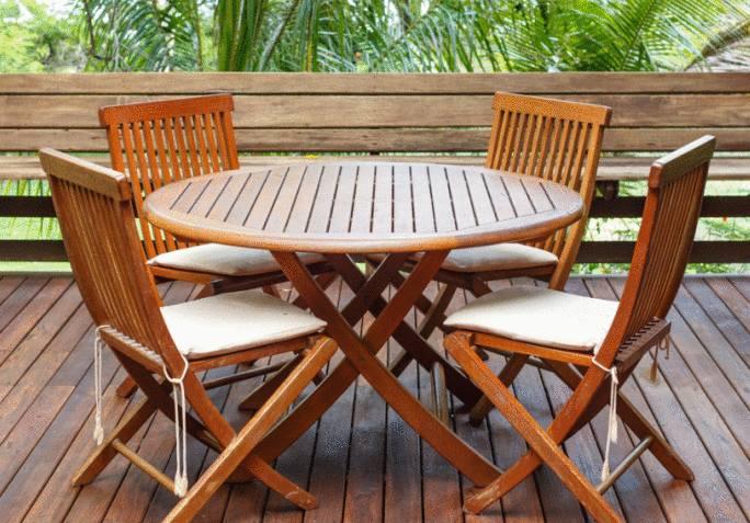 nettoyer et entretenir table et chaise en teck
